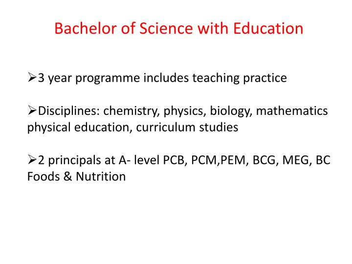 Bachelor of Science with Education