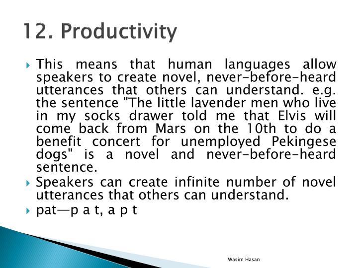 12. Productivity