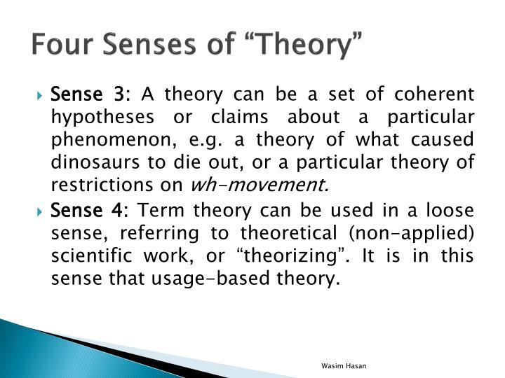 """Four Senses of """"Theory"""""""