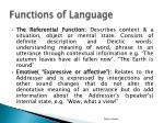 functions of language1