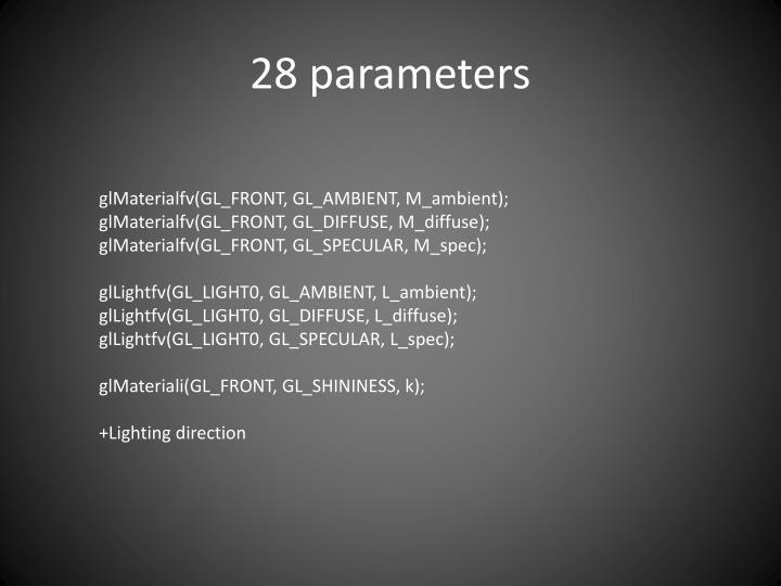 28 parameters