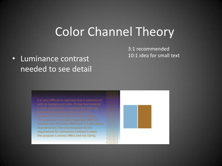 Color Channel Theory