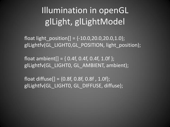 Illumination in