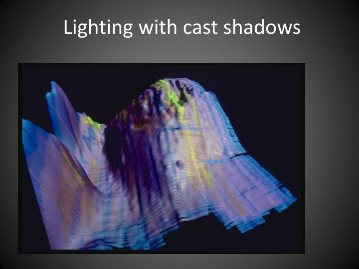 Lighting with cast shadows