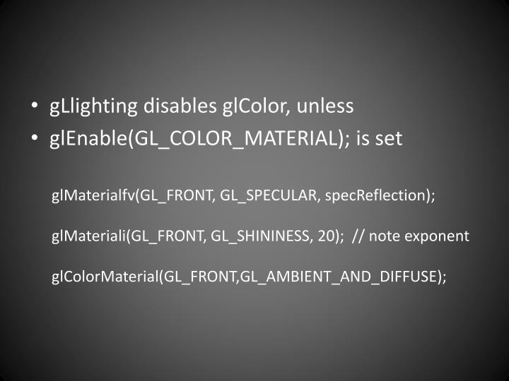 gLlighting