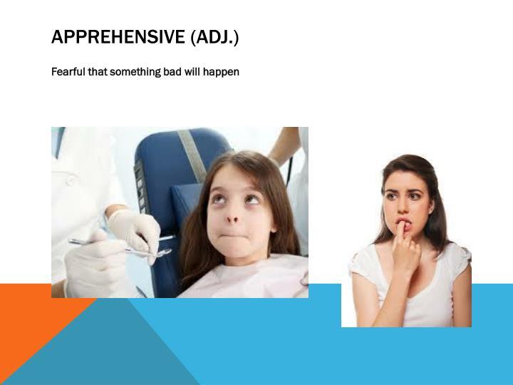 Apprehensive (adj.)