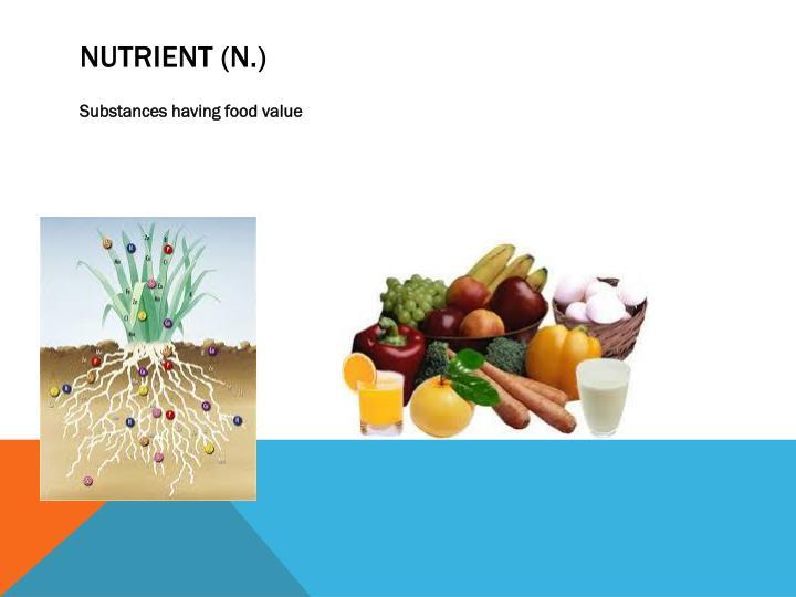 Nutrient (n.)