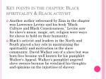 key points in the chapter black spirituality black activist1