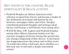 key points in the chapter black spirituality black activist2