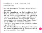 key points in the chapter the amendments