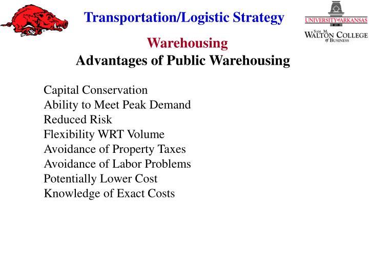 Advantages of Public Warehousing