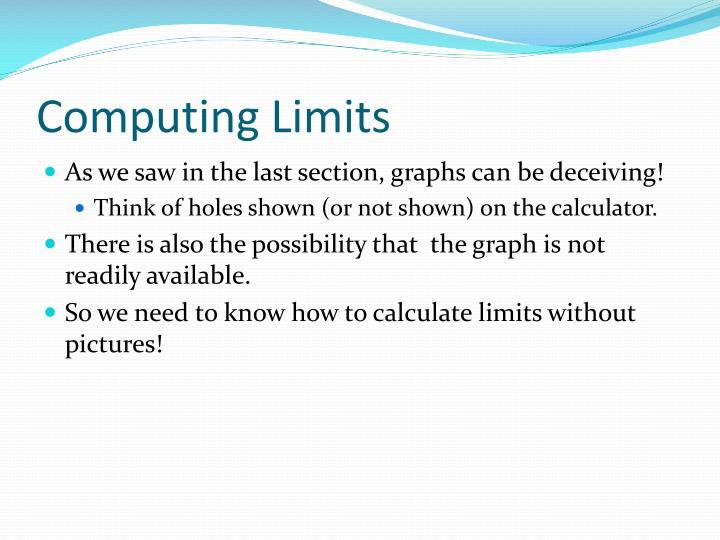 Computing Limits