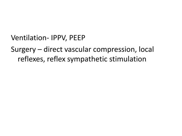 Ventilation- IPPV, PEEP