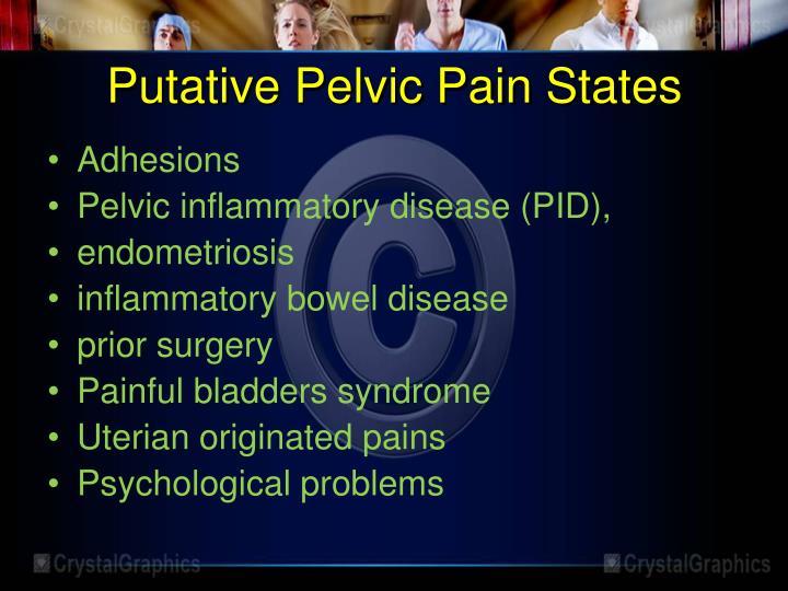 Putative Pelvic Pain States