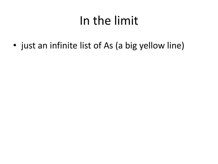 In the limit