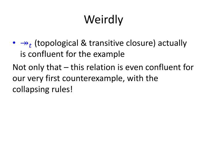 Weirdly