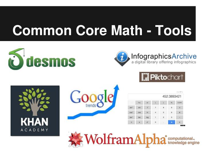 Common Core Math - Tools