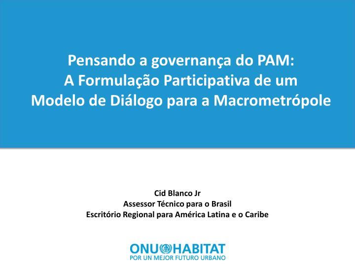 Pensando a governança do PAM: