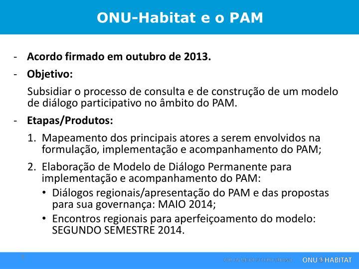 ONU-Habitat e o PAM