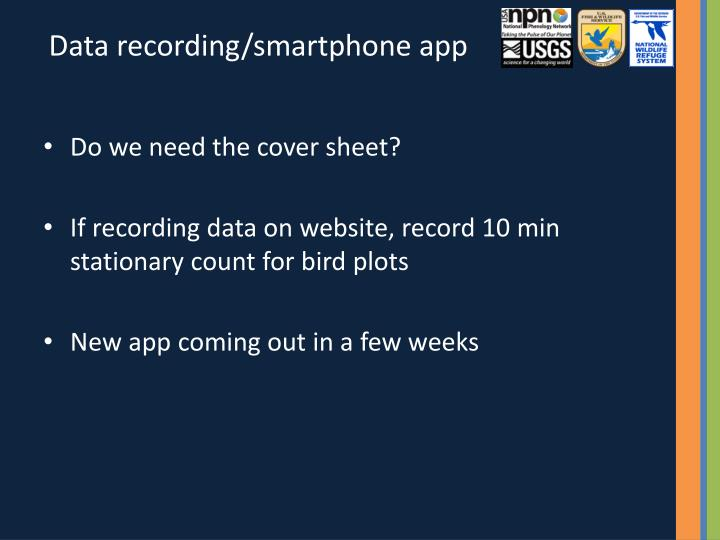 Data recording/smartphone app