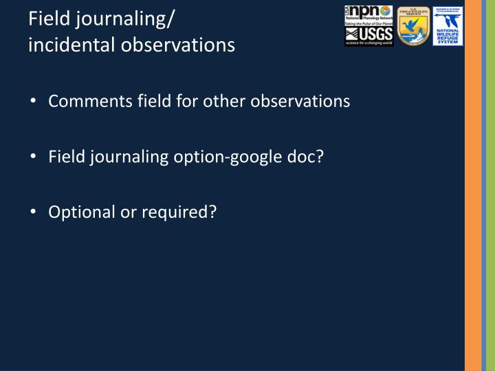 Field journaling