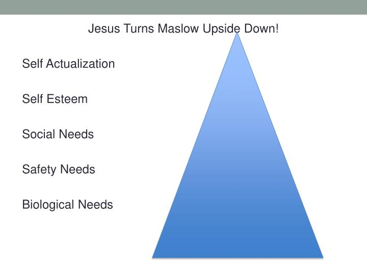 Jesus Turns Maslow Upside Down!