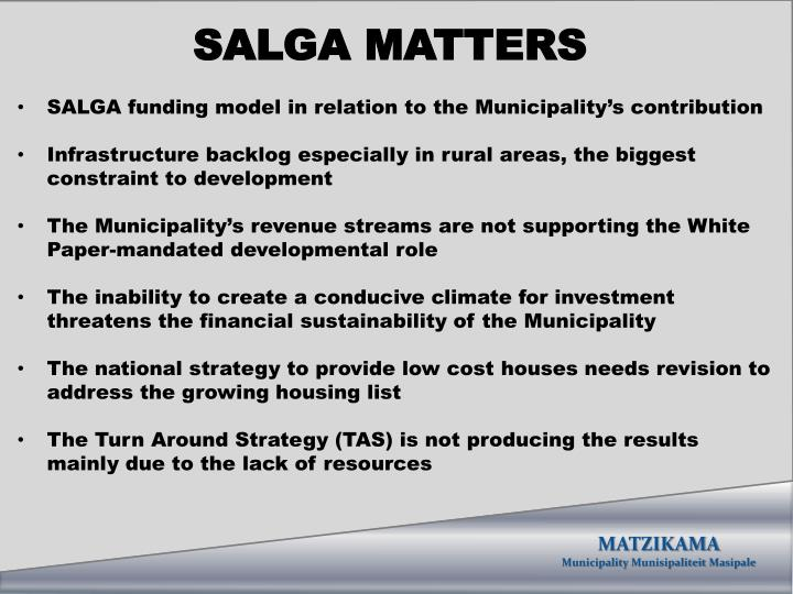 SALGA MATTERS