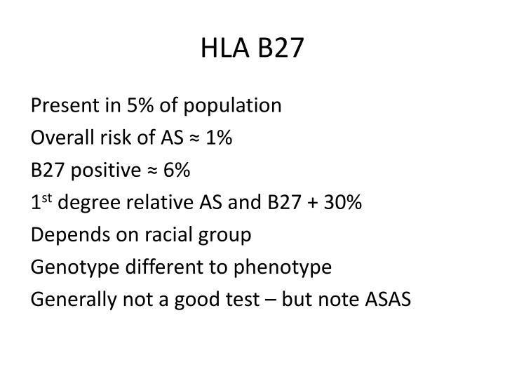 HLA B27