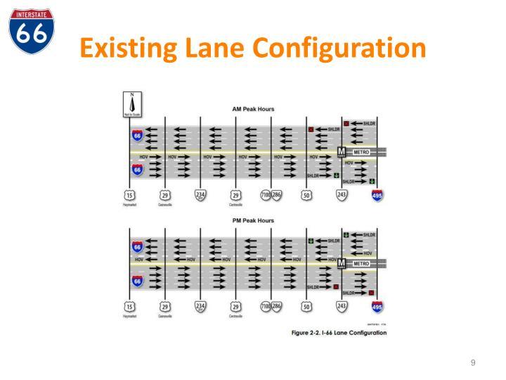 Existing Lane Configuration