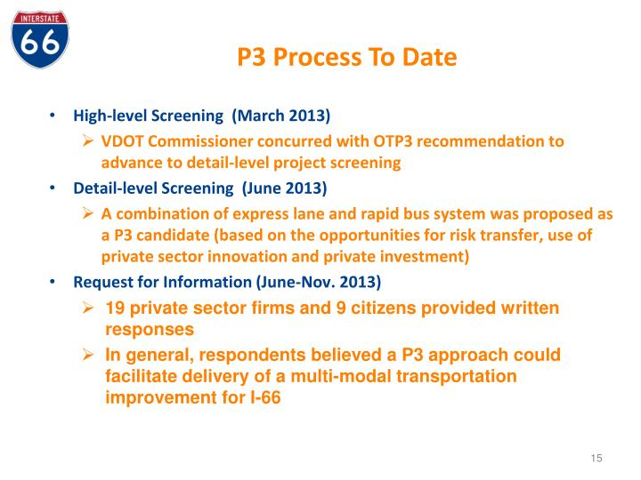P3 Process To Date