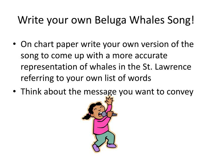 how to write your own song