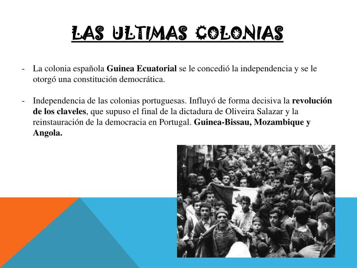 Las  ultimas  colonias