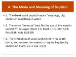 a the mode and meaning of baptism