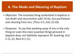 a the mode and meaning of baptism1