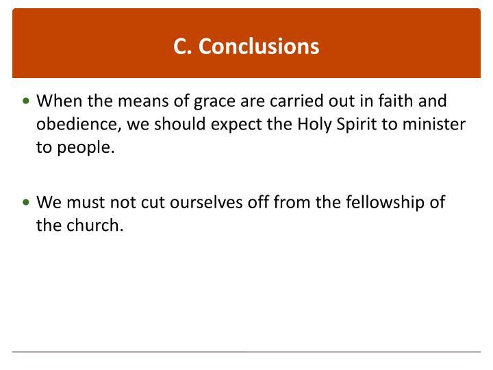 C. Conclusions