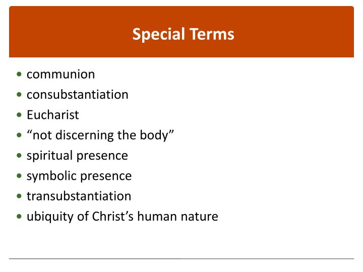 Special Terms