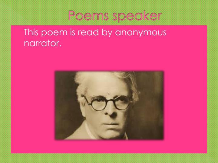 Poems speaker