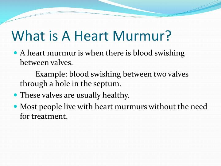 What is a heart murmur