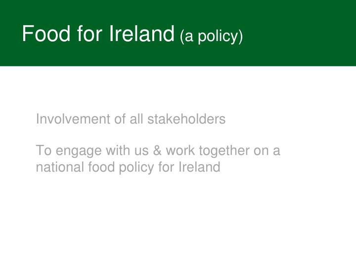 Food for Ireland