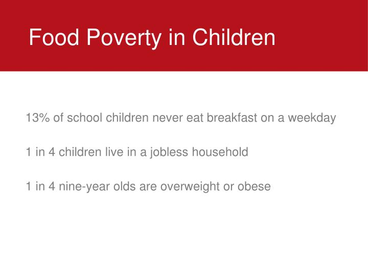Food Poverty in Children