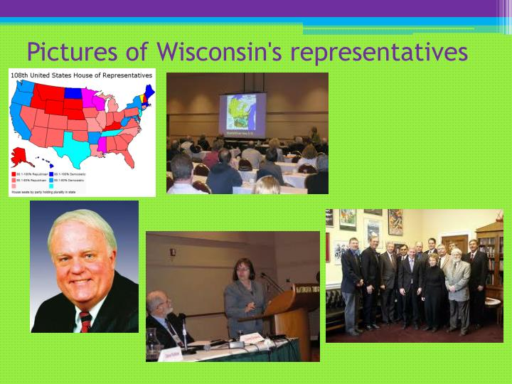 Pictures of Wisconsin's representatives