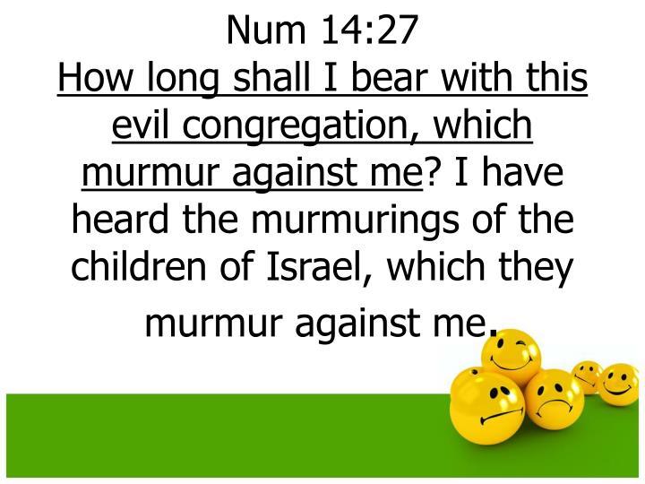 Num 14:27