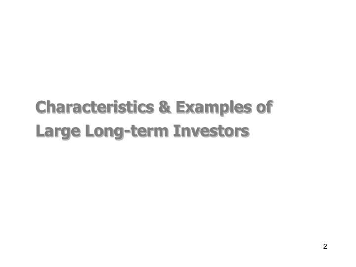Characteristics & Examples of