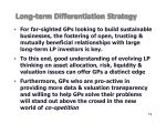 long term differentiation strategy