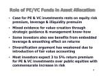 role of pe vc funds in asset allocation