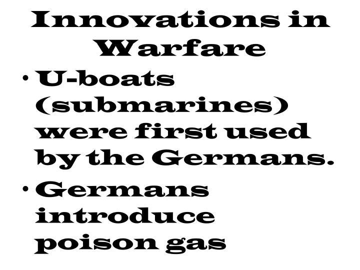 Innovations in Warfare