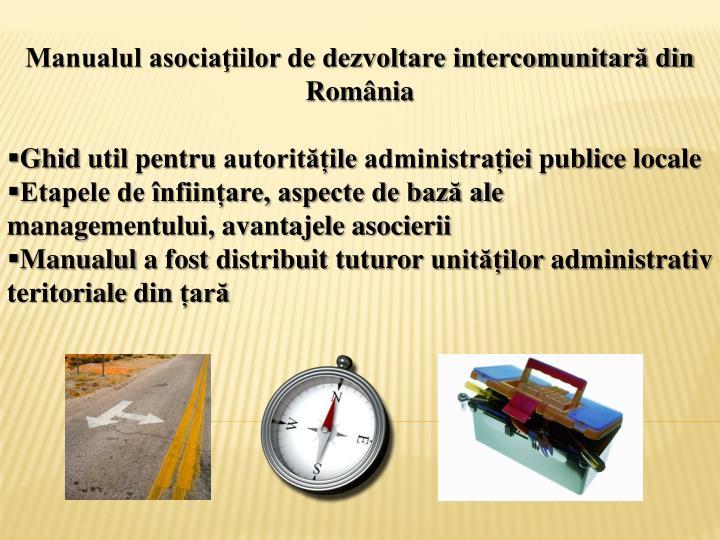Manualul asociaţiilor de dezvoltare intercomunitară din România