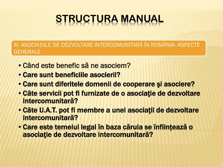 Structura manual