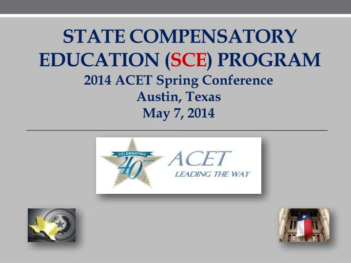 State compensatory education sce program