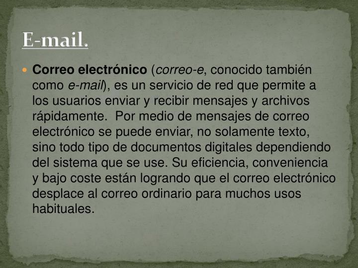 E-mail.